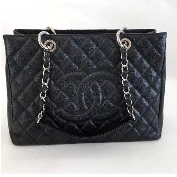 9dd9ce546658 CHANEL Handbags - Authentic Chanel GST Caviar Grand tote Bag